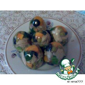Рецепт: Заливное Яйцо от курочки рябы
