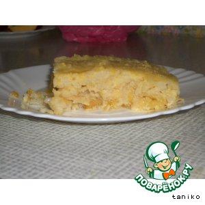 Пудинг яблочно-рисовый