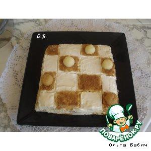 """Рецепт: Закусочный торт """"Шашки"""""""