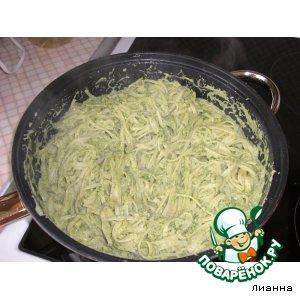 Рецепт: Паста в зелeном соусе