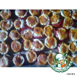 Рецепт: Баклажаны с помидорами и сыром запечeные