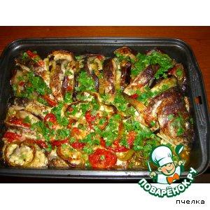 Рецепт: Карп, запеченный с овощами