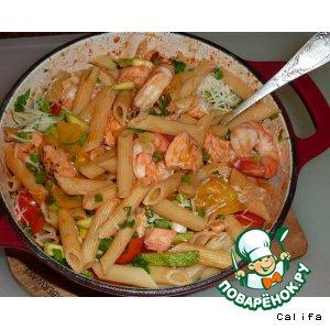 Рецепт: Блюдо с морепродуктами (Seafood Pasta)