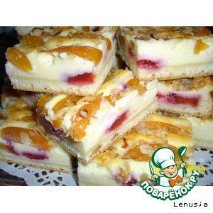 Рецепт: Абрикосово-сливовый пирог