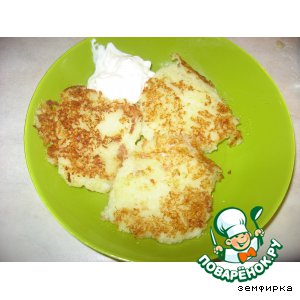 Рецепт: Картофельно -кабачковые котлетки