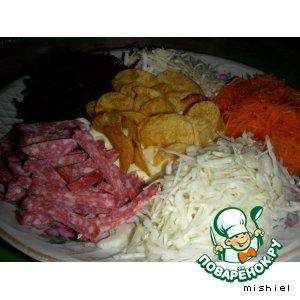 """Рецепт: Салат """"Козел в огороде"""""""