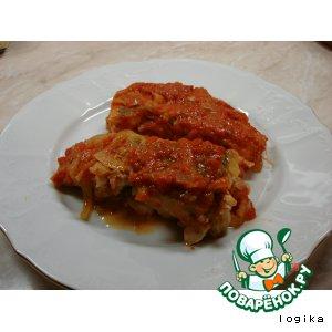 Рецепт: Рыба в красном маринаде