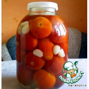 Рецепт: Маринованные помидоры с чесноком