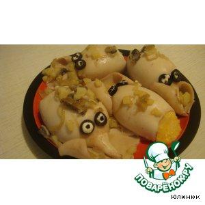 Рецепт: Кальмары фаршированные