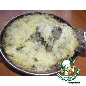 Рецепт: Грибы под сырной шубкой