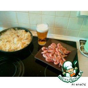 Рецепт: Баварская тушеная капустa с беконом и шампиньонами