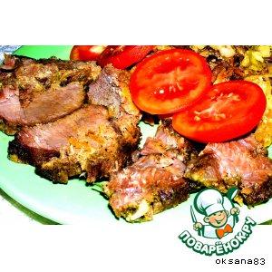 Рецепт: Мясо с овощами
