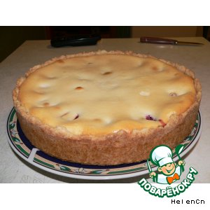 Рецепт: Страсбургский пирог со сливами