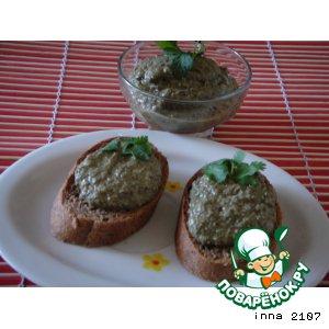 Рецепт: Дип из баклажанов с оливками