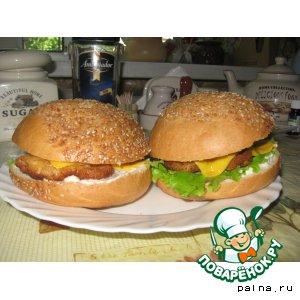 "Рецепт: Бургеры ""Вкусные"""
