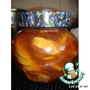 Рецепт: Варенье яблочное Янтарное в карамели с белым шоколадом