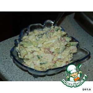 """Рецепт: Салат """"О-крошка"""""""