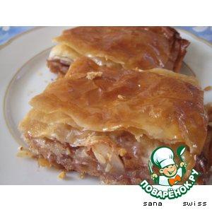 Рецепт: Яблочная баклава с медом и орехами