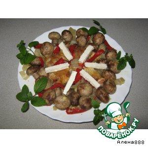 Рецепт: Куриные голени с шампиньонами