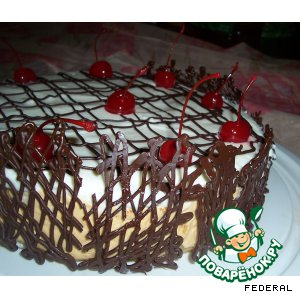 Рецепт: Торт творожный с грушами