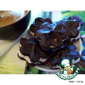 Рецепт: Шоколадное печенье к кофе