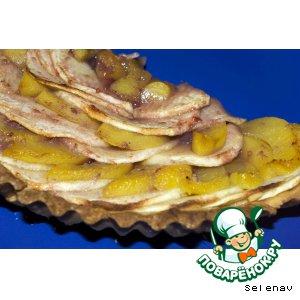 Рецепт: Яблочно-персиковый пирог