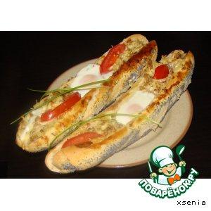 Рецепт: Горячие бутерброды Лодочки