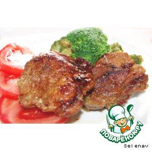 Рецепт: Свиные отбивные с брокколи