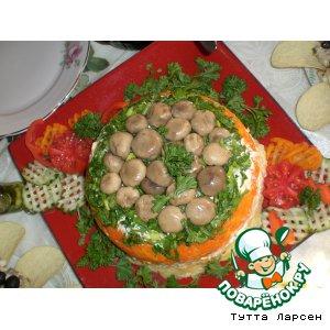 """Рецепт: Салат """"Грибная поляна"""""""