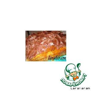 Рецепт: Прикольный пирог с кабачком, базиликом и бархатным плащом