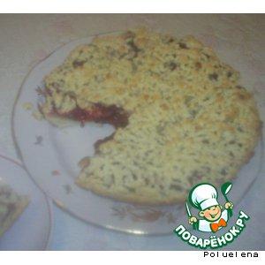 Рецепт: Пирог с яблоками и брусникой