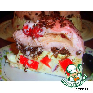 Рецепт Желейный тортик с  брауниз