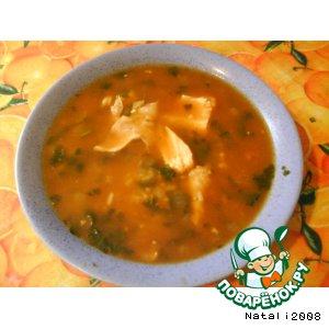 Рецепт: Суп харчо с курицей
