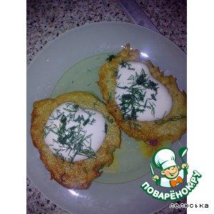 Рецепт: Драники картофельные с белыми грибочками
