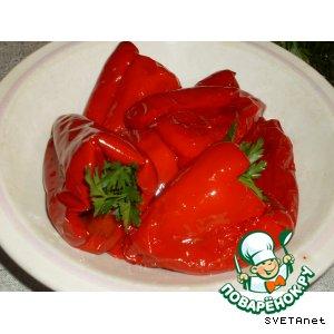 Обжаренный перец в маринаде