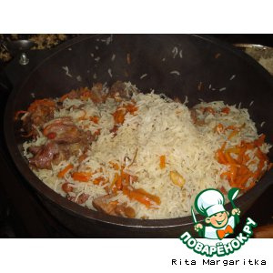 Рецепт: Плов с миндалем