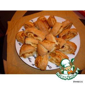 Рецепт: Слоeные булочки-пятиминутки