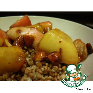 Рецепт: Гречка с яблоками и мeдом