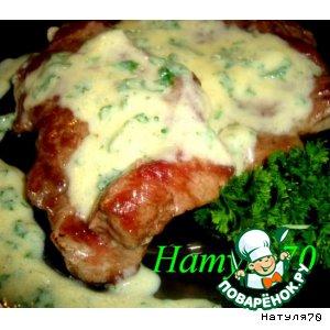 Рецепт: Лангет из говядины под беарнским соусом