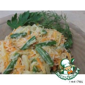 Рецепт: Салат из рисовой лапши