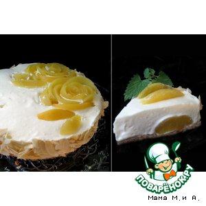 Рецепт: Чизкейк из персика и белого шоколада