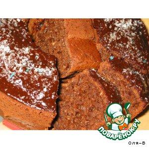 Рецепт: Творожно-кокосовый кекс с какао