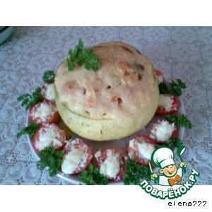 Рецепт: Жаркое из риса с овощами в тыквенном горшочке