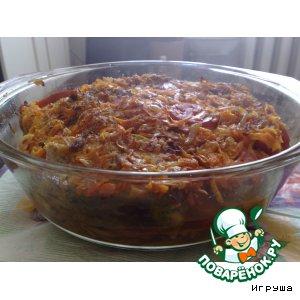Рецепт: Сайра тушеная с овощами