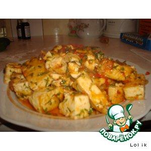 Рецепт: Тофу (тиби) в помидорках
