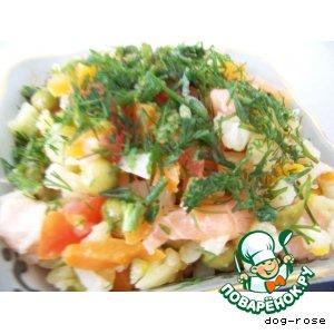 Рецепт: Салат «Золотая рыбка»