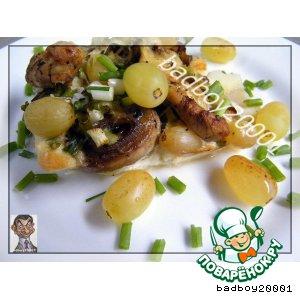 Рецепт: Запеканка с виноградом и грибами