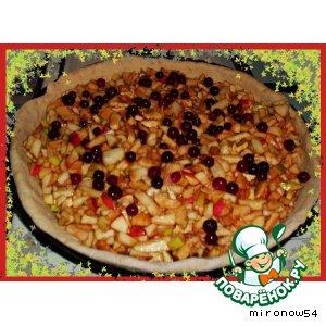 Рецепт: Пирог «Медовый Яблочно-Клюквенный»