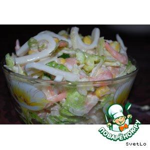 Рецепт: Салат из морепродуктов