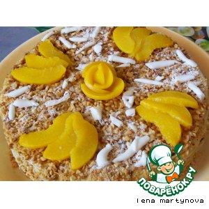 Рецепт: Миндальный торт с персиками